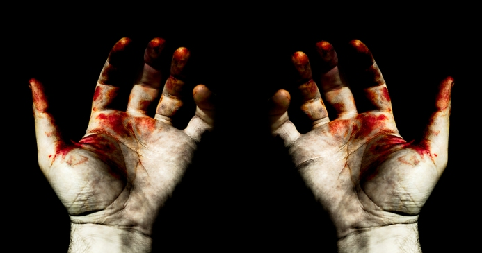 hands-in-blood