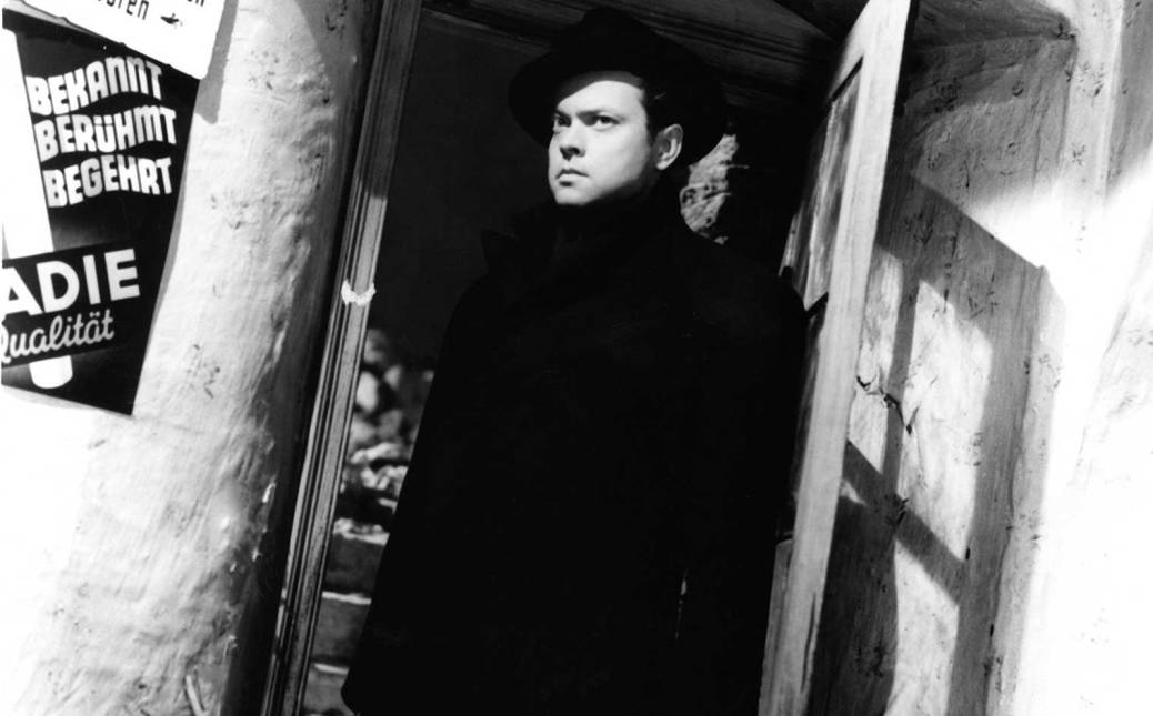 Orson Welles in Carol Reed's THIRD MAN (1949). Photo Courtesy of Rialto Pictures.